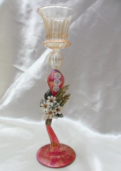 Candeliere grande in vetro