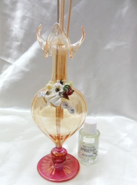 Profumatore grande in vetro con fiore