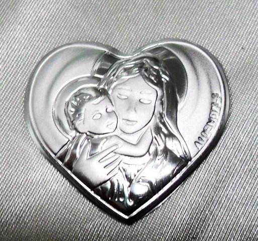 Piastra a cuore con Madonna