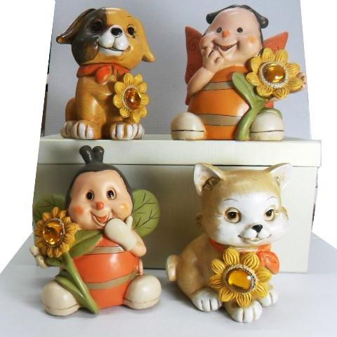 Salvadanai in ceramica  modelli assortiti