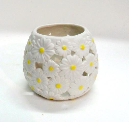 Portapenna ceramica decoro margherite