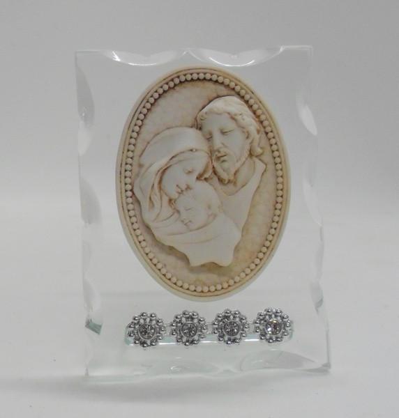 Icona con Sacra Famiglia e punti luce