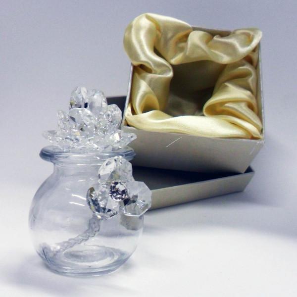 Profumatore con fiori in cristallo e punti luce