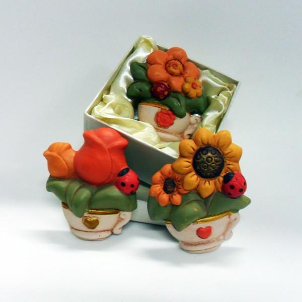 Calamite  piantine in ceramica