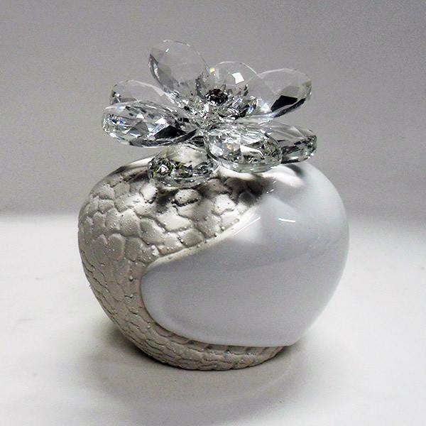 Profumatore con fiore in cristallo e punto luce