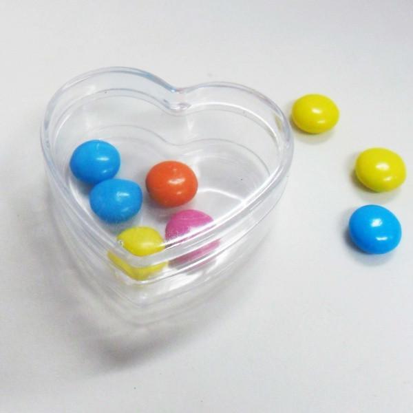 48 Scatoline cuore in plastica rigida