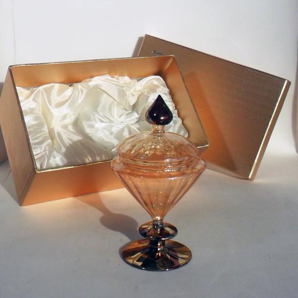 Portagioie in vetro soffiato completo di scatola