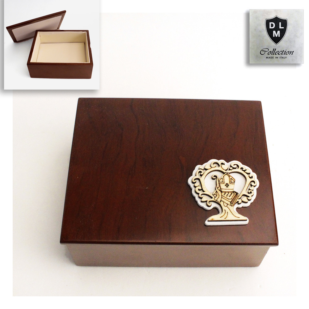 Scatola in legno Portagioie Albero della Vita per Santa Cresima Svuotatasche Portagioielli Beauty Case