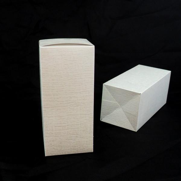 Scatola in cartoncino colore panna 10x10x22 cm