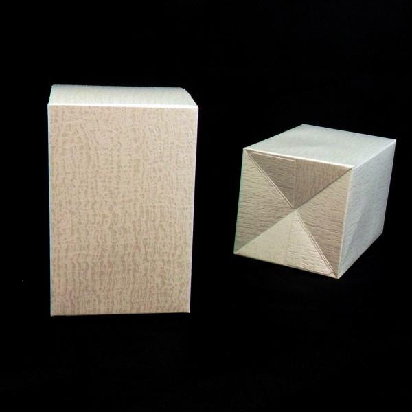 Scatola in cartoncino colore panna 9x9x14cm