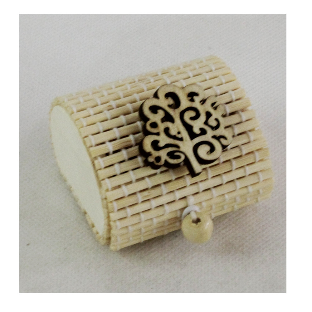 Scatola Portaconfetti in Bambu Albero della Vita Bambù Confettata Segnaposto