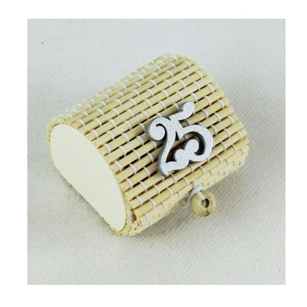 Scatola Portaconfetti in Bambu Nozze 25 Anniversario Bambù Confettata Segnaposto
