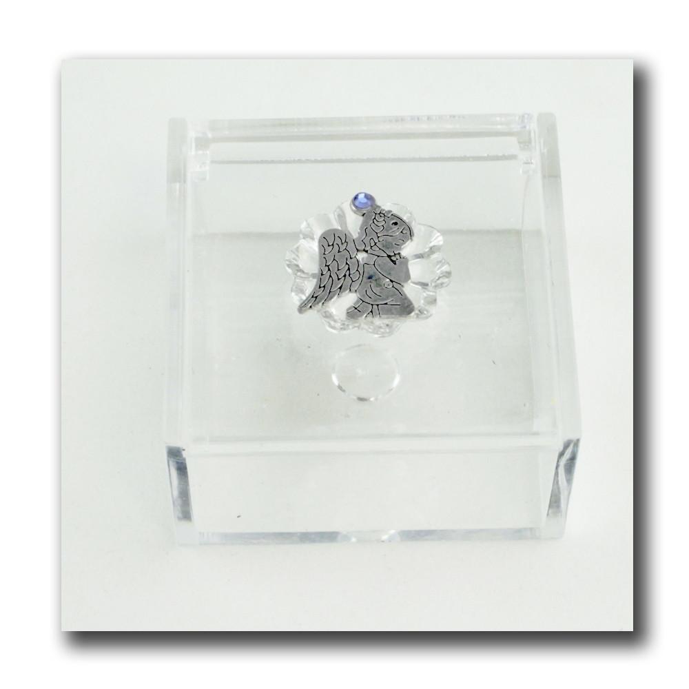 Scatola portagioie in plexiglass Angelo Angioletto in preghiera Confetti plexi