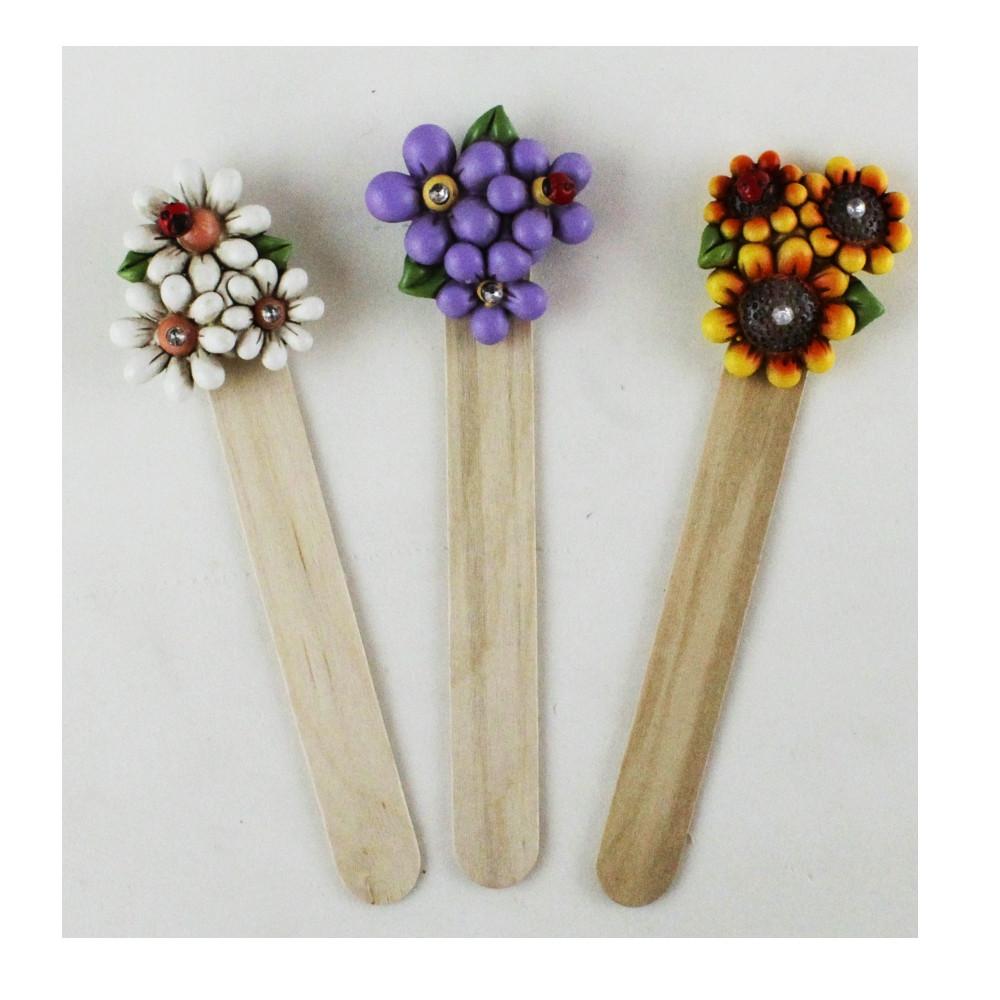 Segnalibro in legno Margherita Fiore Girasole Segnaposto Pensierino Confettata