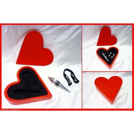 33 pezzi Set vino cuore rosso