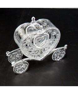 Scatolina carrozza sposi in plastica rigida
