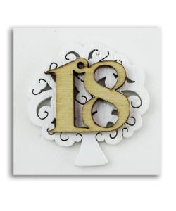 Calamita Magnete Albero della Vita 18 Anni Diciottesimo Compleanno in legno Segnaposto Confettata Pensierino