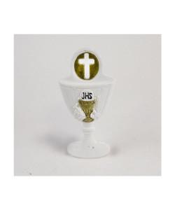 Icona Calice della Prima Comunione con Crocifisso Oro in resina