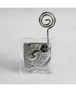 Portafoto Memo Clip Icona in cristallo con Calice Prima Comunione