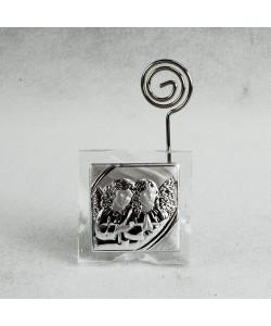 Portafoto Memo Clip Icona in cristallo con Coppia Angeli Puttini