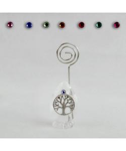 Portafoto Memo Clip in Cristallo con Albero della Vita Confettata Segnaposto