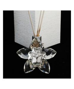 Profumatore Fiore 5 petali in Cristallo con Quadrifoglio Albero della Vita Diffusore per Ambienti Profumo