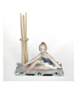 Profumatore in vetro e Resina Ballerina Dance Musica in ceramica Battesimo Comunione Diffusore Profumo Ambienti