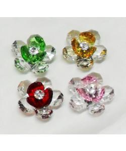 Calamite a fiore in cristallo con punto luce