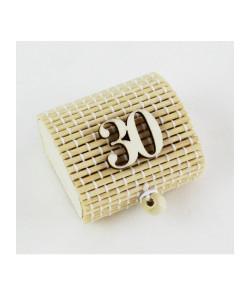Scatola Portaconfetti in Bambu 30 Trentesimo Compleanno Bambù Confettata Segnaposto