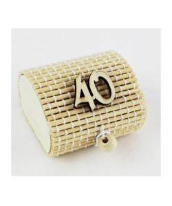 Scatola Portaconfetti in Bambu 40 Quarantesimo Compleanno Bambù Confettata Segnaposto