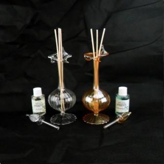 Profumatore Bottiglia in vetro soffiato Ambra C1720