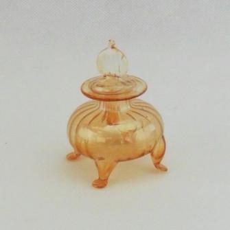 Mini Bottiglia Porta profumo in vetro soffiato ambra