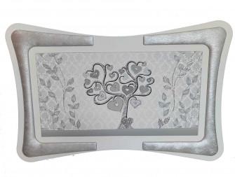 Quadro Arredo Silver Albero della Vita Soggiorno Salotto Camera da Letto Cucina Ufficio Bar Ristorante Regalo Misure 90X60