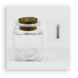 Barattolo in Vetro con Ciondolo Righello Laurea Ingegneria Geometra Porta Confetti