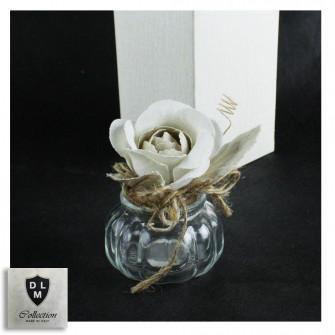 Barattolo in vetro Margherita Fiore Girasole Portaconfetti Matrimonio Battesimo Comunione Cresima