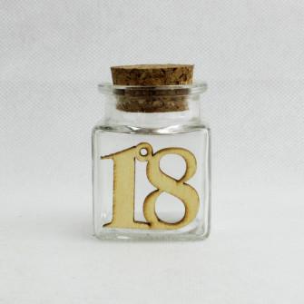 Barattolo in Vetro per 18 Diciottesimo Compleanno Porta Confetti Spezie