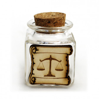 Barattolo in vetro Pergamena in legno Laurea in Giurisprudenza Avvocato Bilancia Confettata Portaconfetti DIY