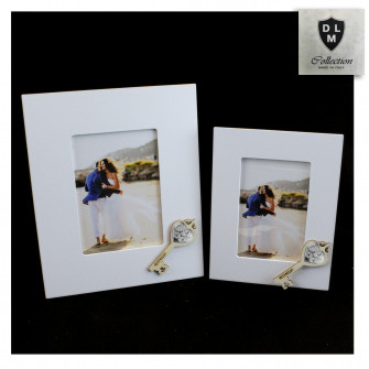 Bomboniera Portafoto Cornice Quadretto Chiave Albero della Vita in legno Shabby Chic