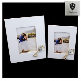 Bomboniera Portafoto Cornice Quadretto Chiave Coppia Fedi 50 Anniversario Nozze Matrimonio