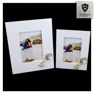 Bomboniera Portafoto Cornice Quadretto Chiave Madonna con Bambino in legno Shabby Chic
