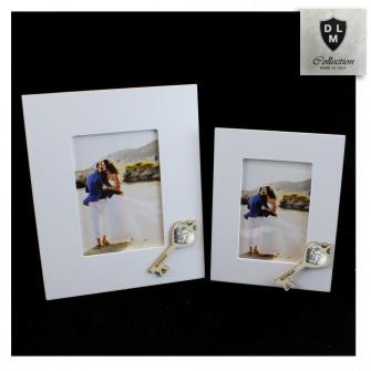 Bomboniera Portafoto Cornice Quadretto Chiave Sacra Famiglia in legno Shabby Chic