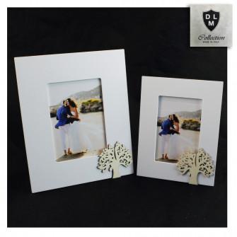 Bomboniera Portafoto Cornice Quadretto con Albero della Vita in legno Shabby Chic