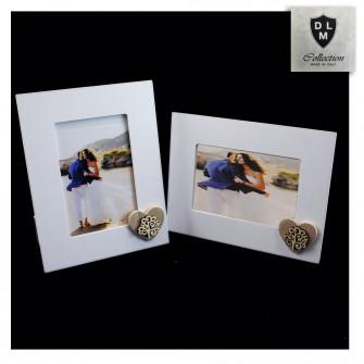 Bomboniera Portafoto Cornice Quadretto Legno con Cuore Albero della Vita Matrimonio Nozze