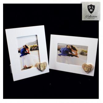 Bomboniera Portafoto Cornice Quadretto Legno con Cuore Libro Calice Comunione
