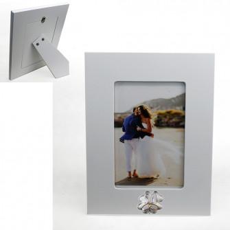 Bomboniera Portafoto Cornice Quadretto Quadrifoglio 50 Anniversario Nozze Matrimonio D'oro Cinquantesimo 22x17 cm