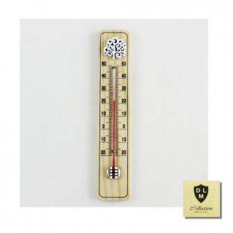 Bomboniera Termometro Ambiente Albero della Vita in legno bianco da parete Idea Regalo