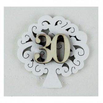 Calamita Albero della Vita 30 Trentesimo Compleanno Nozze Anniversario Bambù Confettata Segnaposto