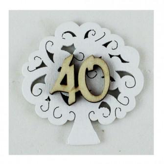 Calamita Albero della Vita 40 Quarantesimo Compleanno Nozze Anniversario Bambù Confettata Segnaposto