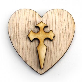Calamita Cuore Crocifisso Croce Crocetta Confettata Segnaposto Magnete
