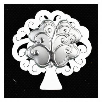 Calamita Magnete Albero della Vita in legno Quadrifoglio Portafortuna Segnaposto Pensierino Confettata
